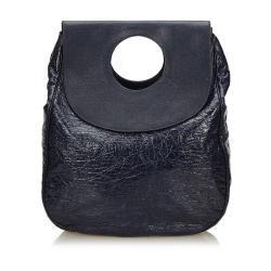 Balenciaga Two Tone Patent Leather Ottoman Dupionne Satchel