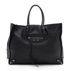 Balenciaga Veau Leather Papier A4 Zip Around Tote