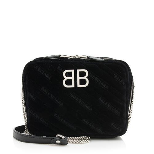 Balenciaga Velvet BB XS Reporter Shoulder Bag