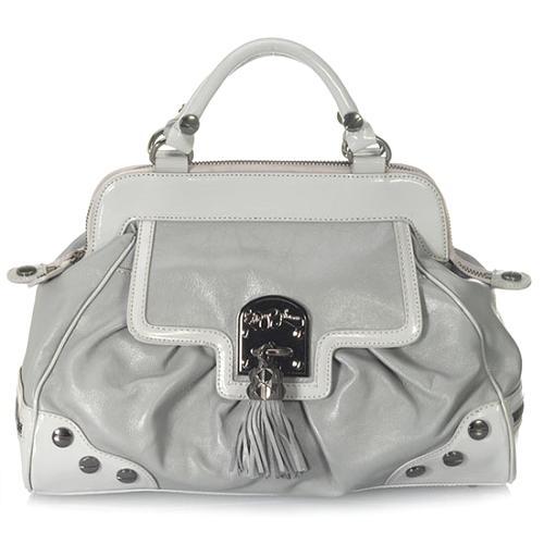 Betsey Johnson Betseys Pom Pom Frame Handbag
