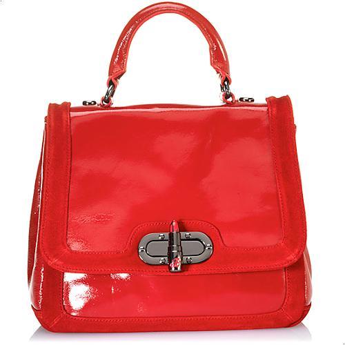 Betsey Johnson Lipstick Fever Satchel Handbag