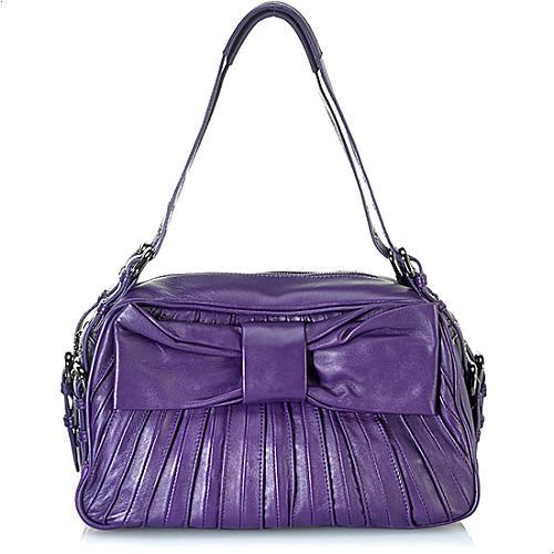Betsey Johnson Little Bow Pleat Satchel Handbag