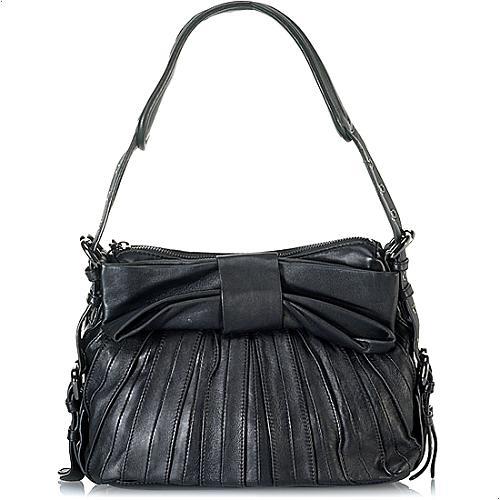 Betsey Johnson Little Bow Pleat Shoulder Handbag