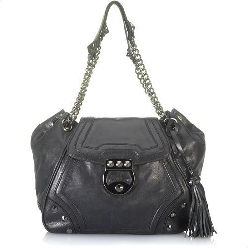 Betsey Johnson Rock Stud-y Flap Shoulder Handbag