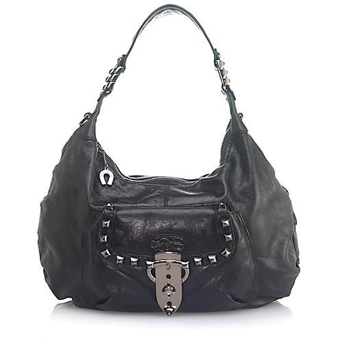 Betsey Johnson Strap Em Down Hobo Handbag