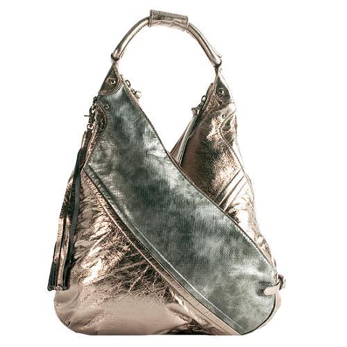 Botkier Chrystie Metallic Leather Hobo Handbag