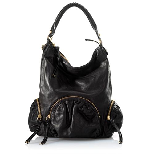 Botkier Leather Large Hobo Handbag