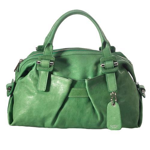Botkier Leather Violet Satchel Handbag
