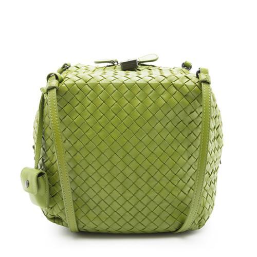Bottega Veneta Baskey Weave Leather Assenzio Box Crossbody Bag