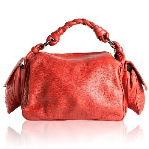 Bottega Veneta Cervo Cocker Satchel Handbag