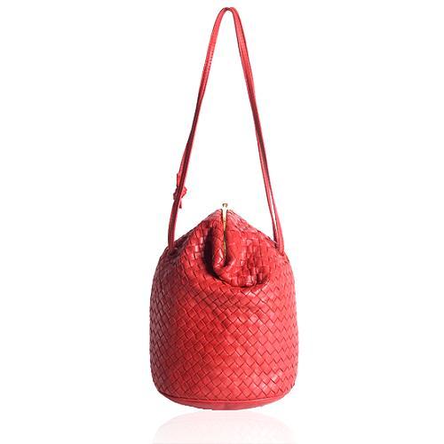 Bottega Veneta Intrecciato Bucket Shoulder Handbag