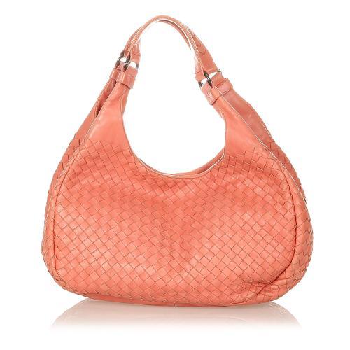 Bottega Veneta Intrecciato Campana Leather Hobo Bag