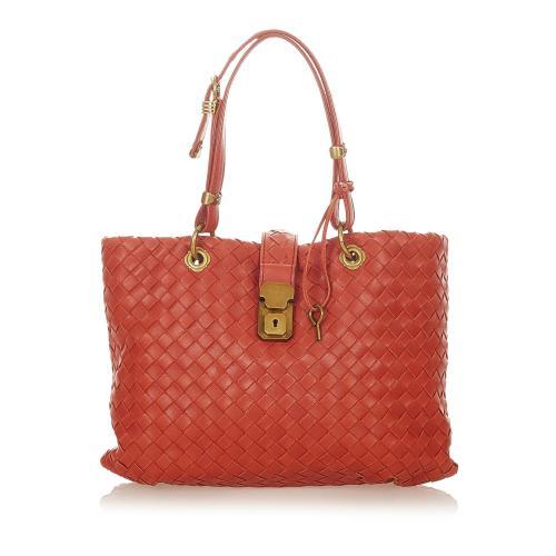 Bottega Veneta Intrecciato Capri Handbag