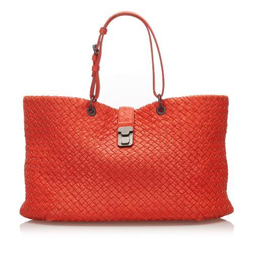 Bottega Veneta Intrecciato Capri Leather Tote Bag