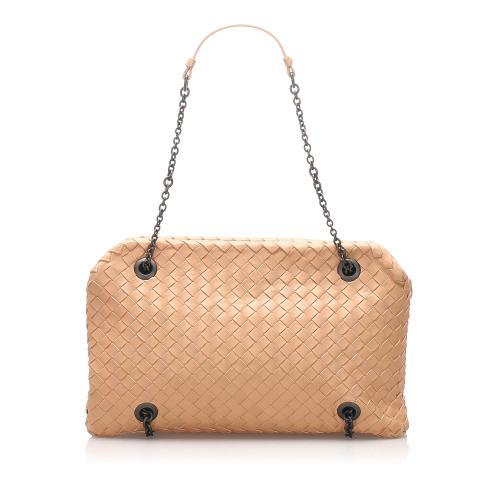 Bottega Veneta Intrecciato Chain Leather Shoulder Bag