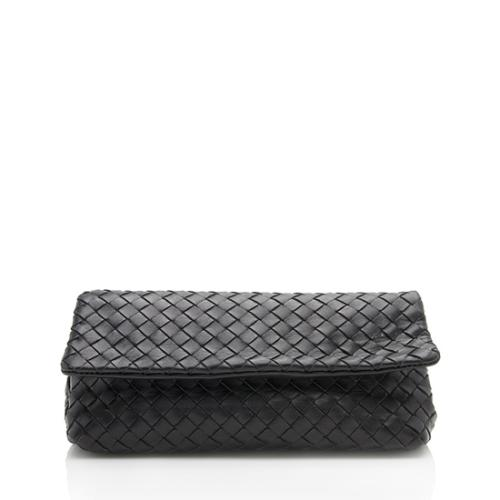 Bottega Veneta Intrecciato Fold Over Clutch