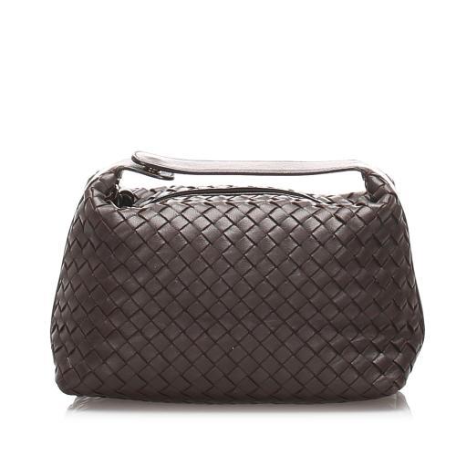 Bottega Veneta Leather Intrecciato Satchel