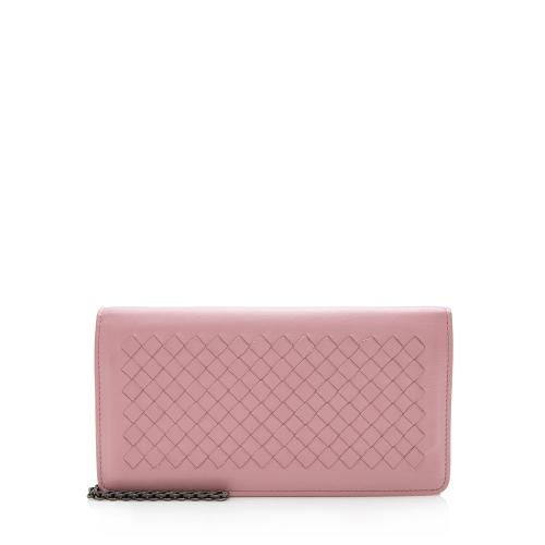 Bottega Veneta Intrecciato Leather Wallet on Chain