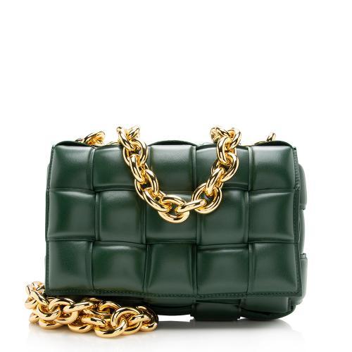 Bottega Veneta Lambskin Cassette Chain Maxi Shoulder Bag