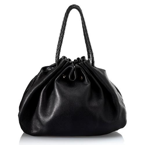 Bottega Veneta Leather Gathered Shoulder Handbag