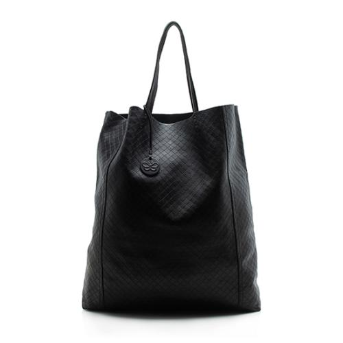 Bottega Veneta Leather Intrecciomirage Large Tote