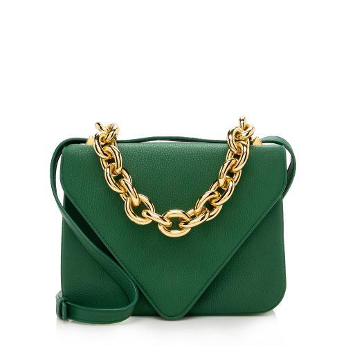 Bottega Veneta Leather The Mount Envelope Chain Shoulder Bag
