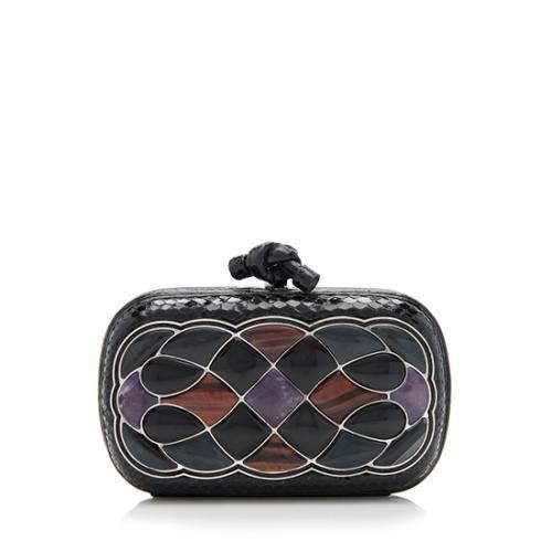 5876bebf267a Bottega-Veneta-Limited -Edition-Embellished-Snakeskin-Knot-Clutch 93001 front large 0.jpg
