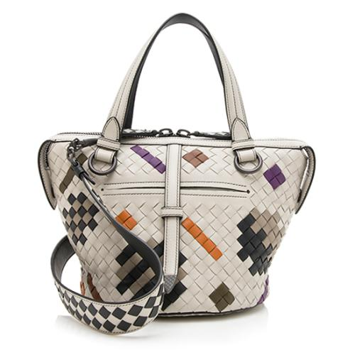 Bottega Veneta Multicolore Intrecciato Nappa Abstract Tambura Tote