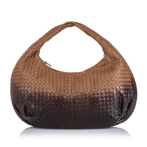 Bottega Veneta Ombre Intrecciato Leather Hobo