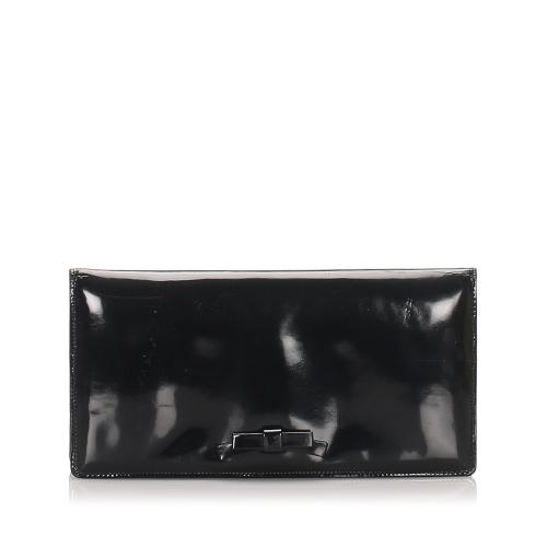 Bottega Veneta Vintage Patent Leather Clutch