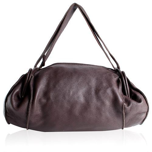 Bottega Veneta Side Frammed Duffel Satchel Handbag
