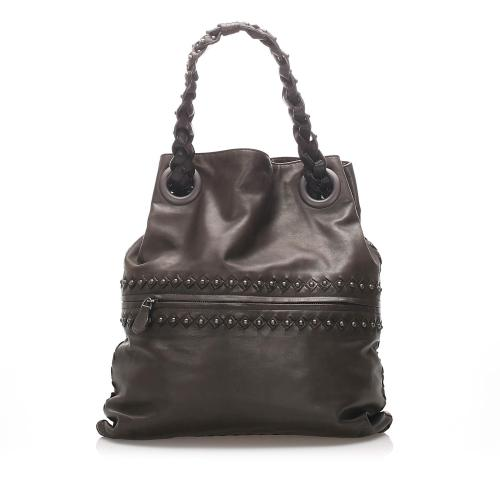 Bottega Veneta Studded Intrecciato Leather Tote Bag