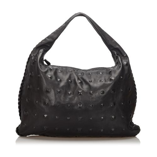 Bottega Veneta Studded Leather Hobo
