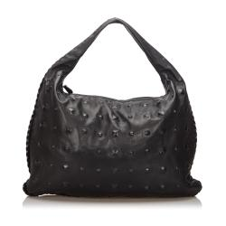 Bottega Veneta Leather Studded Hobo