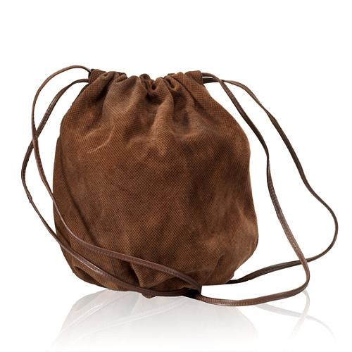 Bottega Veneta Suede Drawstring Clutch