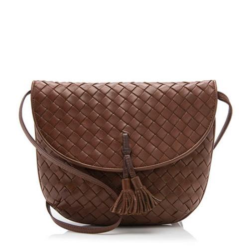 Bottega Veneta Vintage Intrecciato Tassel Shoulder Bag