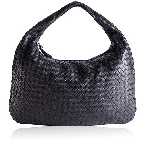 Bottega Veneta Woven Leather Medium Hobo Handbag