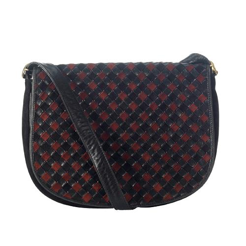 Bottega Veneta Woven Leather Messenger Bag