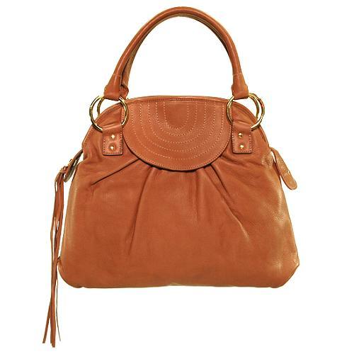 Bulga Gathered Leather Shoulder Handbag