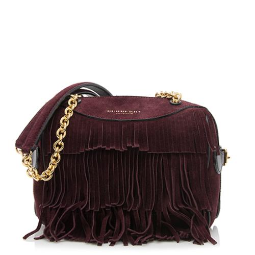 Burberry Prorsum Suede Fringe Alchester Shoulder Bag