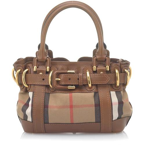 Burberry Baby Beaton House Check Satchel Handbag