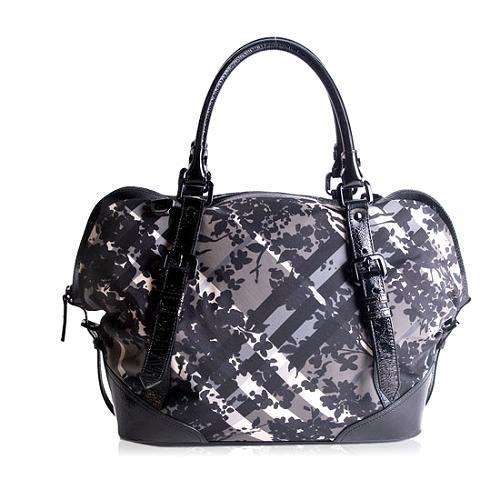 Burberry Beat Check Florence Satchel Handbag
