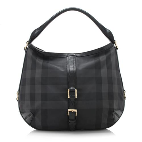 Burberry Beat Check Grafton Hobo