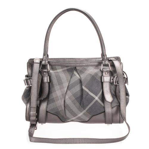 Burberry Nylon Beat Check Satchel
