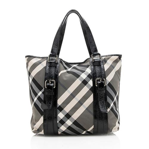Burberry Beat Check Victoria Tote