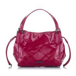 Burberry Bilmore Patent Leather Tote Bag