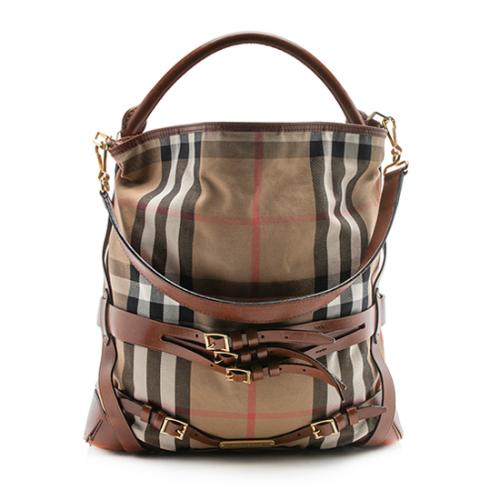 Burberry Bridle House Check Gosford Large Hobo