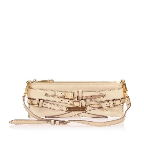 Burberry Metallic Leather Bridle Lynher Shoulder Bag
