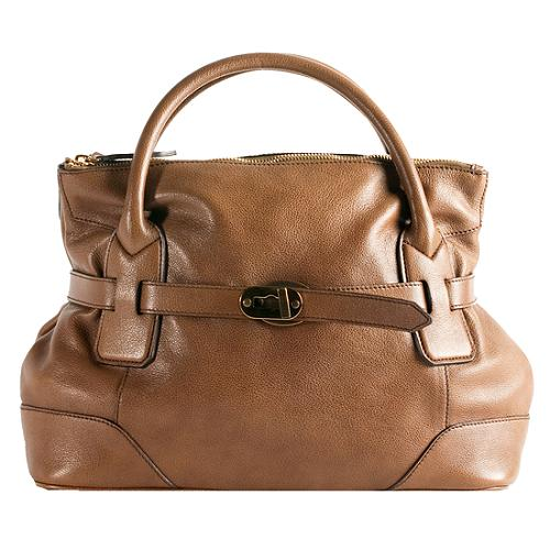 097fd4201faa Burberry-Buffalo-Leather-Belted-Tote 44850 front large 1.jpg