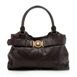 Burberry Buffalo Leather Lambeth Tote